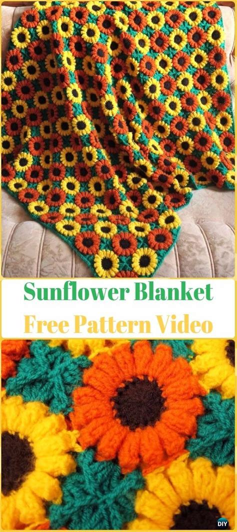 crochet flower blanket  pattern