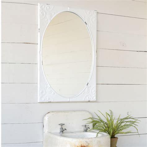 metal wall trellis park hill embossed white mirror et4100 4100