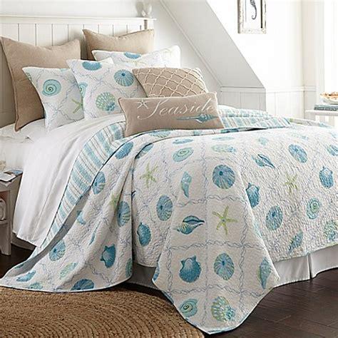 levtex home seaglass reversible quilt set bed bath