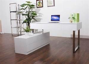 Schreibtische Weiß : schreibtische hochglanz wei zeitgen ssischen design f r ~ Pilothousefishingboats.com Haus und Dekorationen