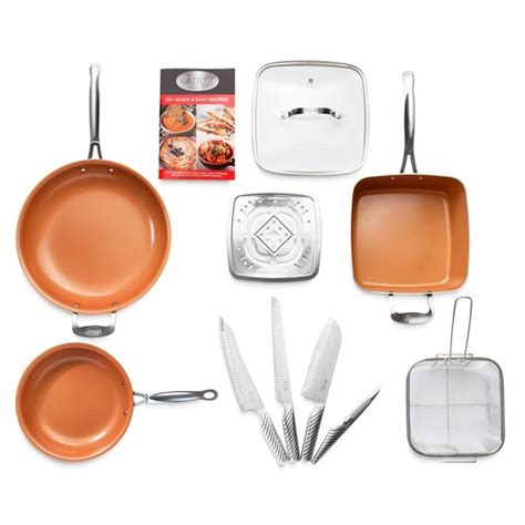 shop gotham steel  piece nonstick cookware pro knife set copper  shipping today