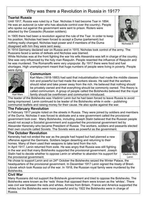 russian revolution worksheet resultinfos