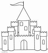 Castle Coloring Pages Printable Simple Cool Princess Preschoolers Easy Sheets Draw Cool2bkids Very Disney Coloringfolder sketch template
