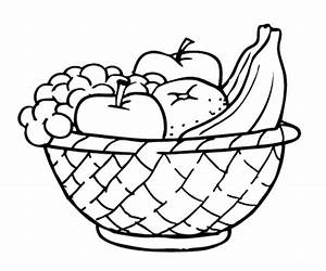 Plate clipart fruit basket - Pencil and in color plate ...