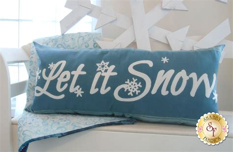 Snow Pillows by Let It Snow Pillow Kit Blue Includes Wool