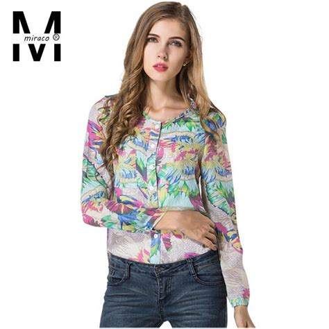 hawaiian print blouses aliexpress com buy miraco tops and blouses 2015