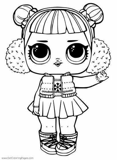 Lol Surprise Coloring Pages Doll Angel Snow