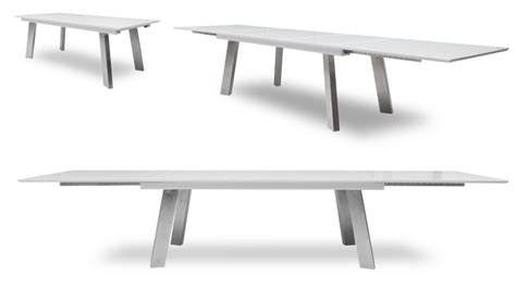 canapé 3 metres table de salle à manger blanche laqué muonio à rallonges