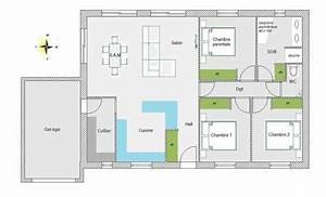 plan maison 70m2 3 chambres plain pied segu maison With plan maison plain pied 70m2