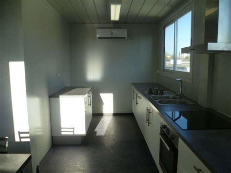 installation de 2 bungalows assembl 233 s refectoire avec cuisine 233 quip 233 e et bureau sur un site