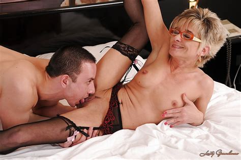 Sex Hungry Granny In Stockings Gets Fucked And Facialized