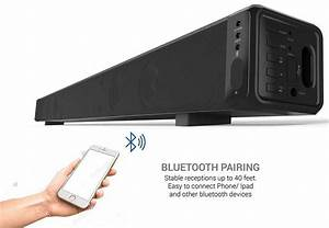 Review Taotronics Sound Bar Wired And Wireless Bluetooth