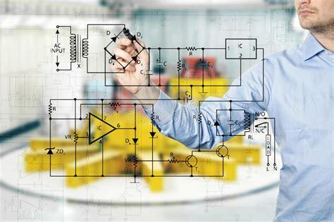 Gesits Electric Wallpaper by Elektroingenieur Zeichnet Ein Diagramm Eines Stromkreises