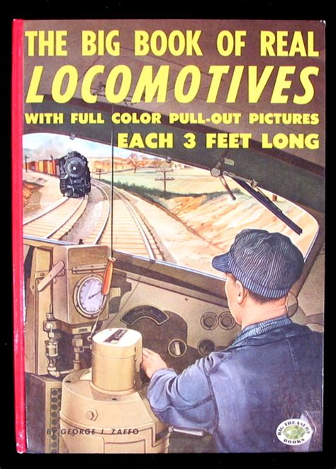 The Big Book Of Real Locomotives A Locomotives Book  Old Children's Books
