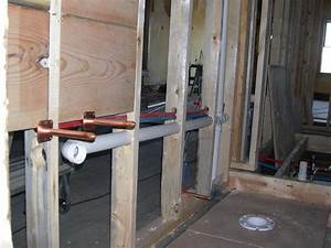 bathroom plumbing here39s the rough plumbing for the With how to rough plumb a bathroom sink