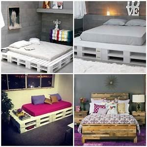 Bett Aus Holzpaletten : noch 64 schlafzimmer ideen f r m bel aus paletten m bel ~ Michelbontemps.com Haus und Dekorationen