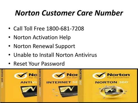 norton customer service phone number ppt norton helpline support 1 800 681 7208