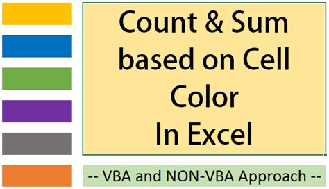 count sum cells based  cell colour  excel