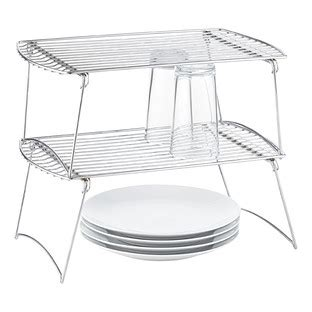 stacking shelves for kitchen cabinets large chrome wire stackable shelf the container 8216
