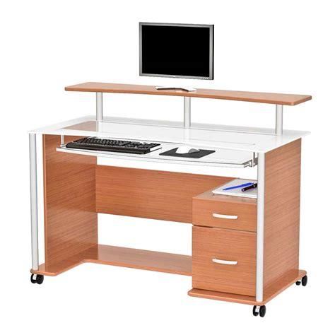 z line glass desk z line designs maven computer desk with hutch light cherry