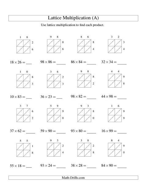 multiplication grid method worksheet generator ks2 1000