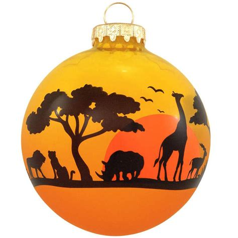 african animal silhouette glass ornament ethnic pride