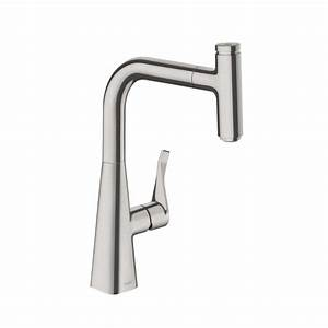 Hansgrohe Metris Select : hansgrohe metris select single lever kitchen mixer 240 with pull out spout stainless steel buy ~ Eleganceandgraceweddings.com Haus und Dekorationen