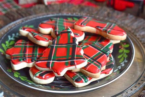 mad  plaid cookie exchange  plaid sugar cookies