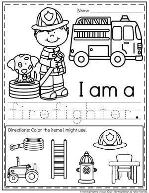 community helpers preschool theme letters a b c