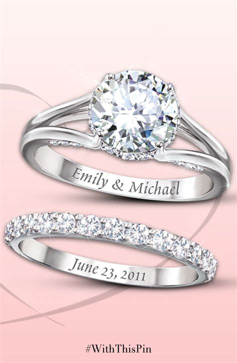 diamonesk bridal ring with engraved names and date in 2019 things to wear bridal ring