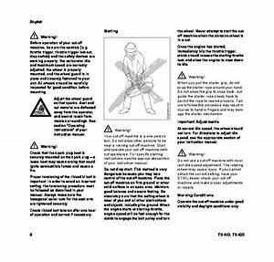 Stihl Ts 410 420 Cut Off Saw Miter Circular Saw Owners Manual
