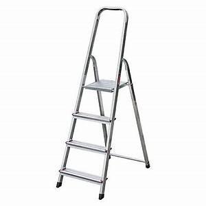 Leiter 8 Stufen : krause corda alu trittleiter stehleiter 4 stufen ~ Watch28wear.com Haus und Dekorationen