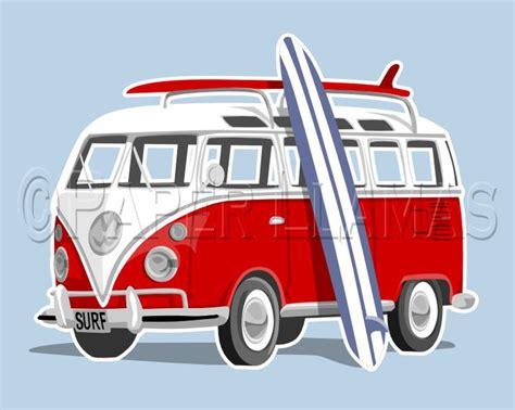 volkswagen van beach surf wagon vw surf bus beach childrens teen wall art