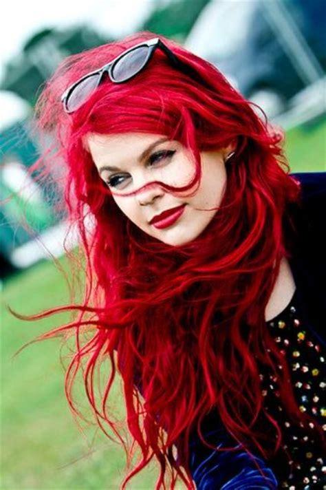 bright red hair ideas    statement styleoholic