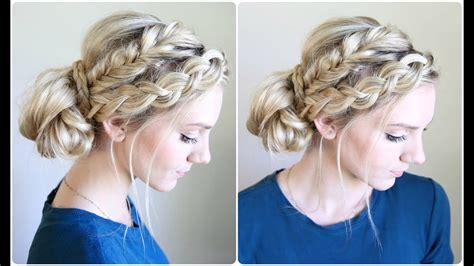 mixed braid bun cute girls hairstyles youtube