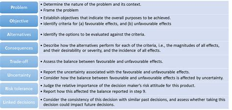 decision making methodology template protect benefit risk