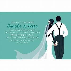 Custom Mint Wedding Couple Silhouette Invitations | Party City