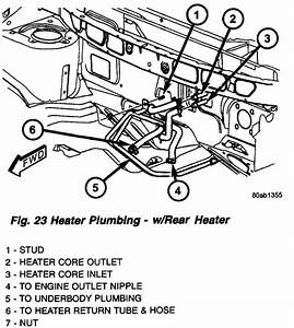 2001 Chrysler Town Country Heater Hose Diagram