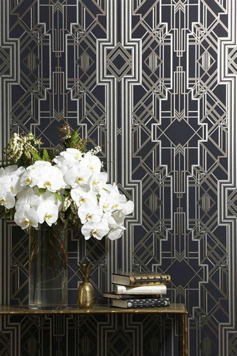 deco home interiors interior design trend deco wallpaper wall stencils