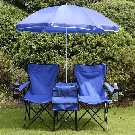 folding picnic table with umbrella gym equipment double folding picnic cing chair with