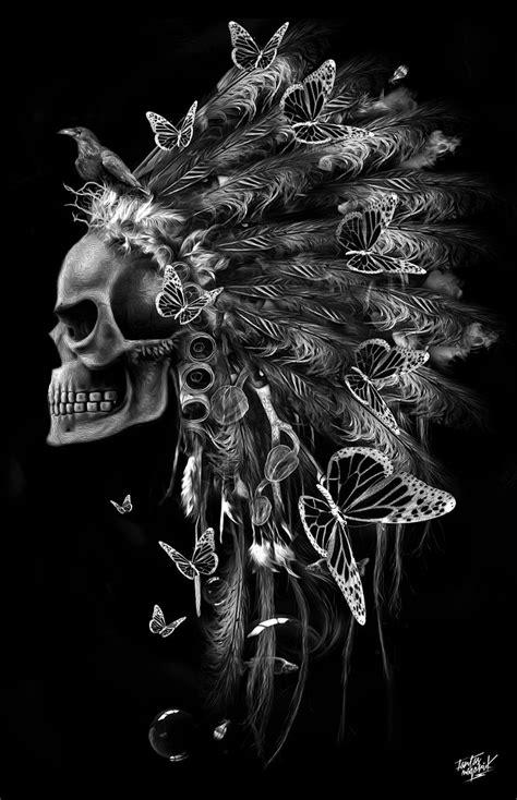 FANTASMAGORIK® INDIAN SKULL RUBY on Behance   Indian skull, Skull tattoos, Skull art
