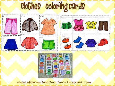 esl efl preschool teachers clothes theme for preschool ell 715 | cards photo