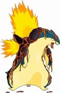 Pokémon #10156 Shiny-Mega-Typhlosion-Lava Mega-S Artwork