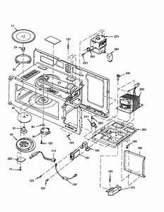 Magnetron  Transformer  Turntable Diagram  U0026 Parts List For