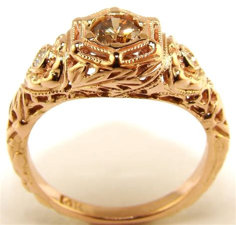 gold engagement rings for prosecco gold engagement ring the jewelers guild