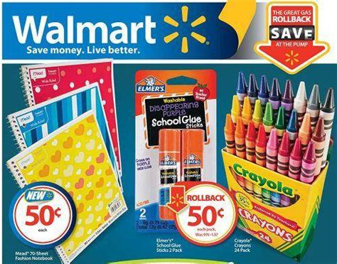 walmart school supplies list   prices
