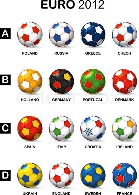 football colors color balls of national football teams of 2012