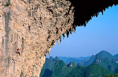 Rock climbing at Yangshuo, China
