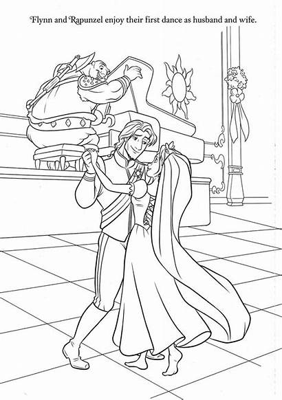 Coloring Disney Pages Rapunzel Princess Flynn