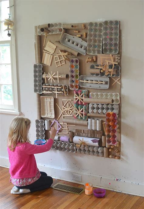 awesome recycled materials art wall crafts